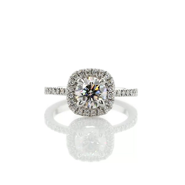 0.9 Carat Arietta Halo Diamond Engagement Ring
