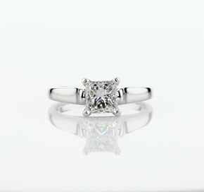 Truly Zac Posen Cathedral Solitaire Plus Diamond Engagement Ring in Platinum (0.04 ct. tw.)