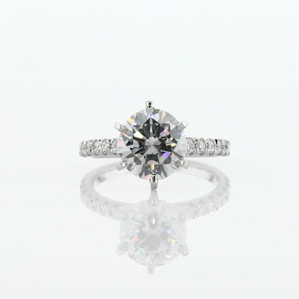 2.01 Carat French Pavé Diamond Engagement Ring