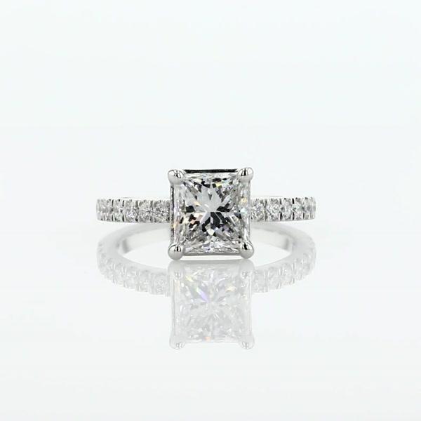 1.5 Carat Petite Pavé Diamond Engagement Ring