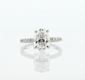 Diamond Eternity Engagement Ring in 14k White Gold (0.44 ct. tw.)