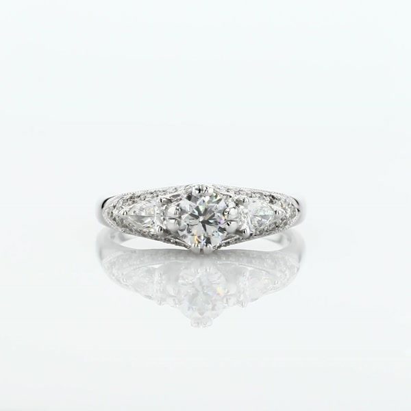 0.5 Carat ZAC Zac Posen Vintage Three-Stone Diamond Engagement Ring