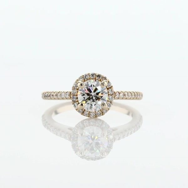 0.72 Carat Classic Halo Diamond Engagement Ring