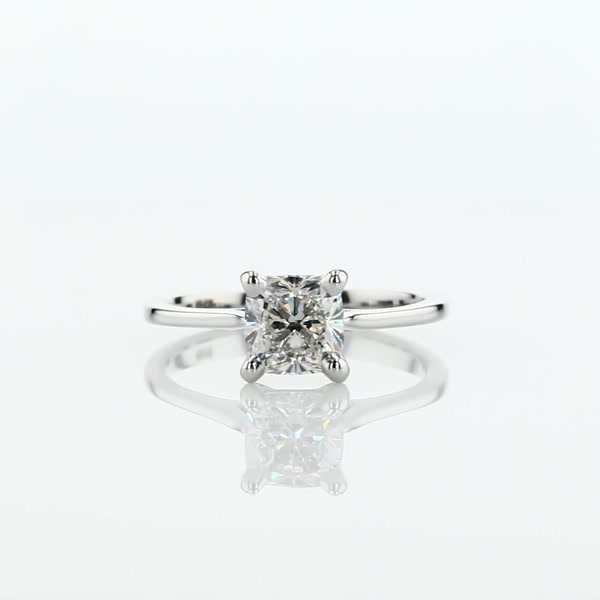 1.04 Carat Petite Cathedral Solitaire Engagement Ring