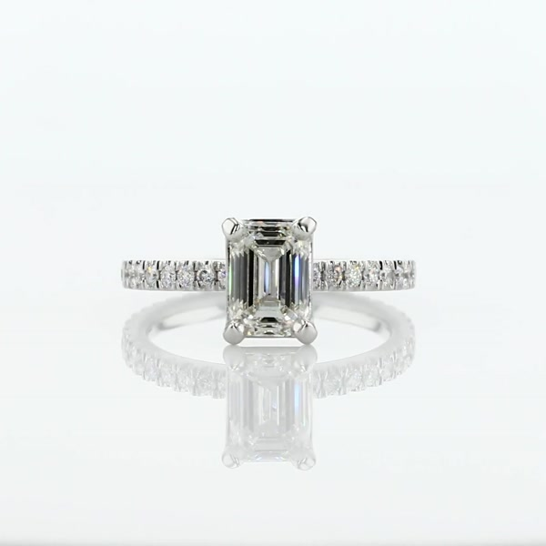 1.5 Carat Diamond Eternity Engagement Ring