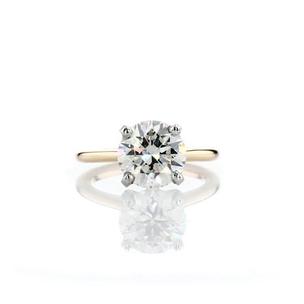 2 Carat Petite Solitaire Engagement Ring