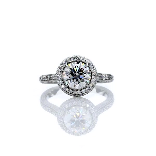 1 Carat The Gallery Collection Halo Diamond Engagement Ring