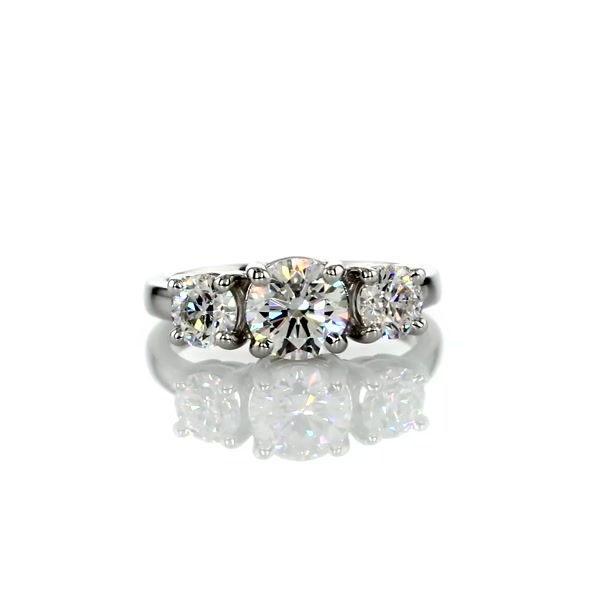 1 Carat Classic Three-Stone Diamond Engagement Ring