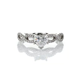 Infinity Twist Micropavé Diamond Engagement Ring in 14K White Gold (0.25 ct. tw.)