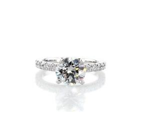 Bague de fiançailles festonnée en diamants sertis pavé en or blanc 18carats (3/8carats, poids total)