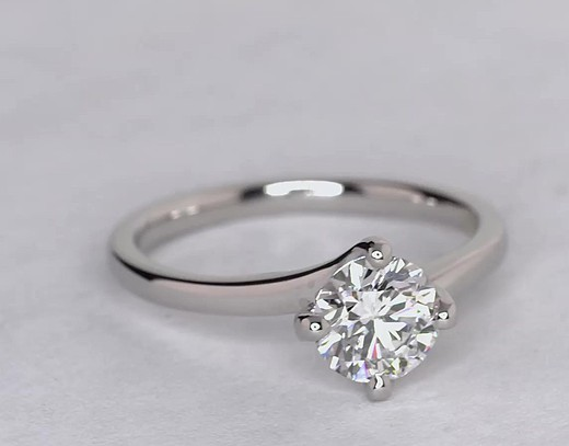 Truly Zac Posen East-West Solitaire Diamond Ring