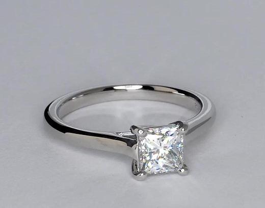 1.06 Carat Petite Trellis Solitaire Engagement Ring