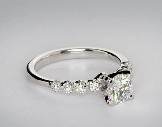 0.75 Carat Floating Diamond Engagement Ring