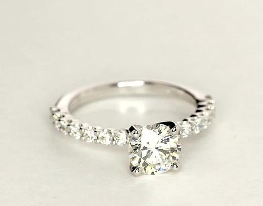 Petite Luna Diamond Engagement Ring in 14k White Gold (1/3 ct. tw.)