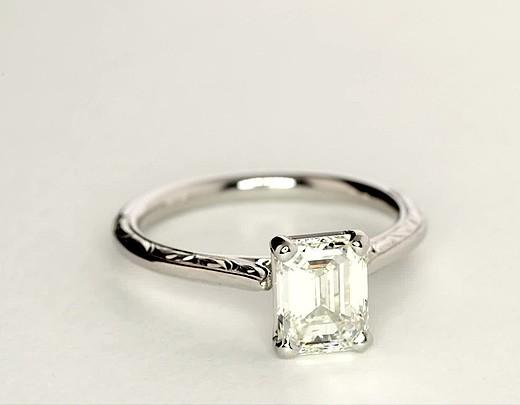 1.82 ct. Emerald-Cut J-Color, VS1-Clarity, Very Good-Cut