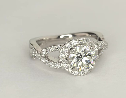 Colin Cowie Infinity Halo Diamond Engagement Ring in Platinum (1/2 ct. tw.)