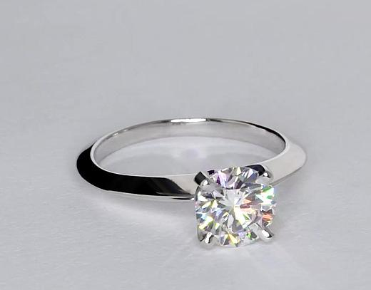 1.17 Carat Knife Edge Solitaire Engagement Ring