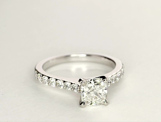 1.31 ct. Cushion-Cut H-Color, IF-Clarity, Very Good-Cut