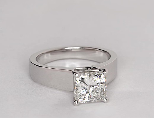 2.22 ct. Princess-Cut H-Color, SI2-Clarity, Very Good-Cut