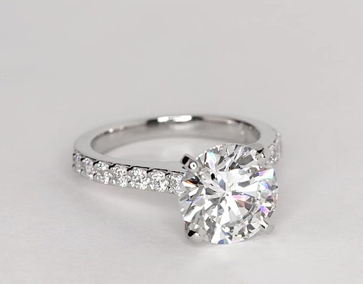 3.57 ct. Round H-Color, VS2-Clarity, Ideal-Cut