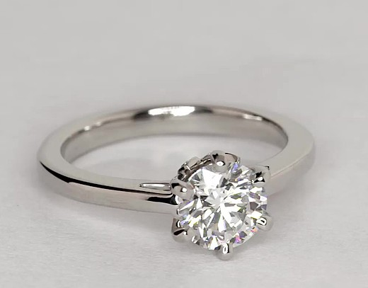 1.02 Carat Leaf Solitaire Engagement Ring
