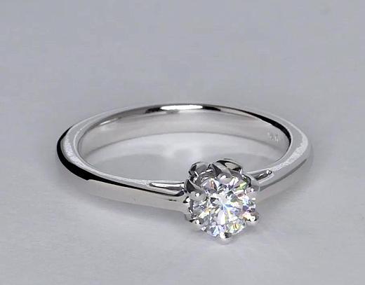 0.42 Carat Leaf Solitaire Engagement Ring