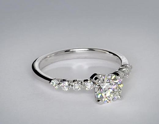 1,01 carat Bague de fiançailles diamant flottant