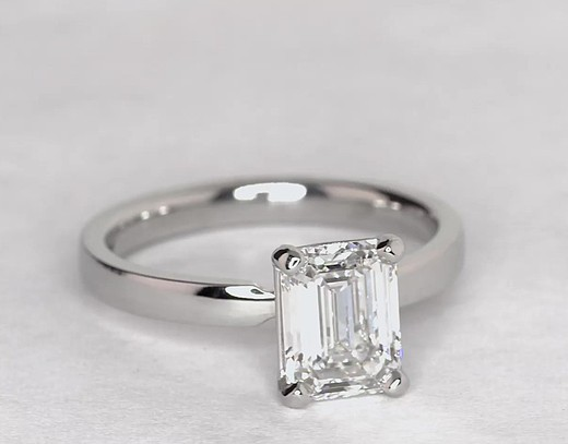 2.02 Carat Low Dome Comfort Fit Solitaire Engagement Ring