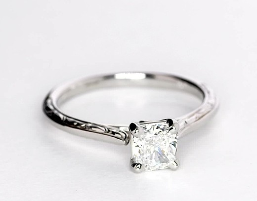 0.93 ct. Cushion-Cut F-Color, VVS2-Clarity, Very Good-Cut