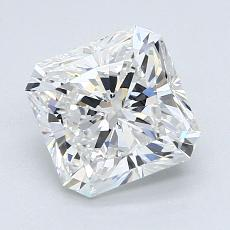 1.93-Carat Radiant Diamond Very Good E VS2