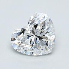 推薦鑽石 #2: 1.01 克拉心形切割鑽石