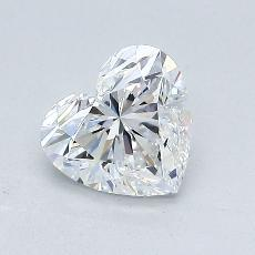 1.04-Carat Heart Diamond Very Good E IF