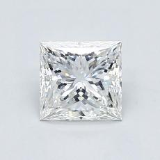 目标宝石:1.03 克拉公主方形钻石