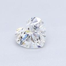 0,51-Carat Heart Diamond Very Good D VVS1