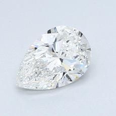 0.91-Carat Pear Diamond Very Good G VVS2