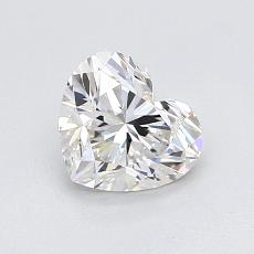 0.90-Carat Heart Diamond Very Good G VVS2