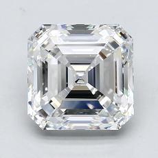 Pierre recommandée n°4: Diamant taille Asscher 2,50 carat