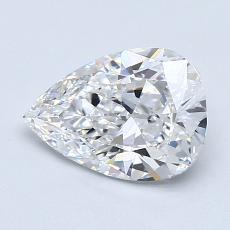 推薦鑽石 #4: 1.21 克拉梨形鑽石