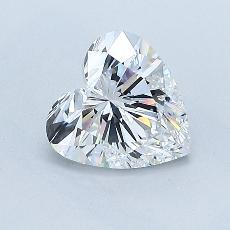 Recommended Stone #3: 1.03-Carat Heart Cut Diamond