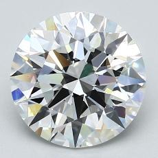 3,03-Carat Round Diamond Ideal F VS1