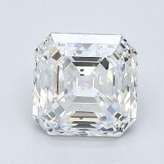 1.50-Carat Asscher Diamond Very Good G SI1