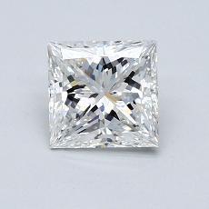 推荐宝石 4:1.03 克拉公主方形钻石