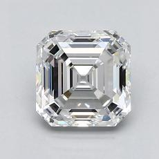 1.31-Carat Asscher Diamond Very Good G VVS2