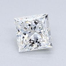 1,01-Carat Princess Diamond Very Good E VVS2
