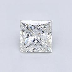 0,72-Carat Princess Diamond Very Good F VVS1