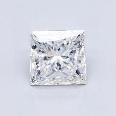 0,93-Carat Princess Diamond Very Good E VS2