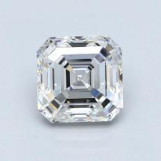 1.24-Carat Asscher Diamond Very Good E VVS1