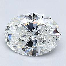 1.50 Carat 橢圓形 Diamond 非常好 G VVS1
