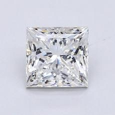 1.25-Carat Princess Diamond Very Good E VS2