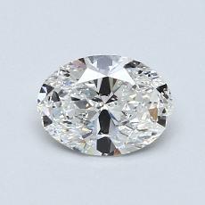 0.73-Carat Oval Diamond Very Good D IF